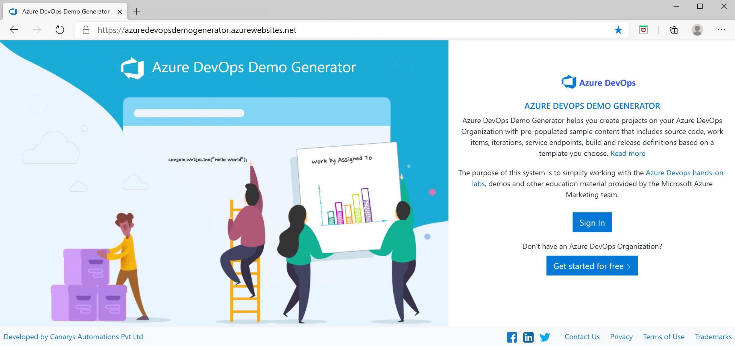 Azure DevOps: Azure DevOps Demo Generator
